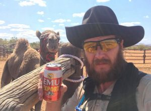 John Elliott and camel